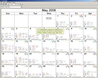 Hilary Clinton Calendar in Solar Fire
