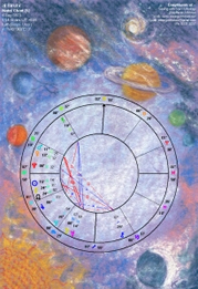 Chart Art Planets in Solar Fire